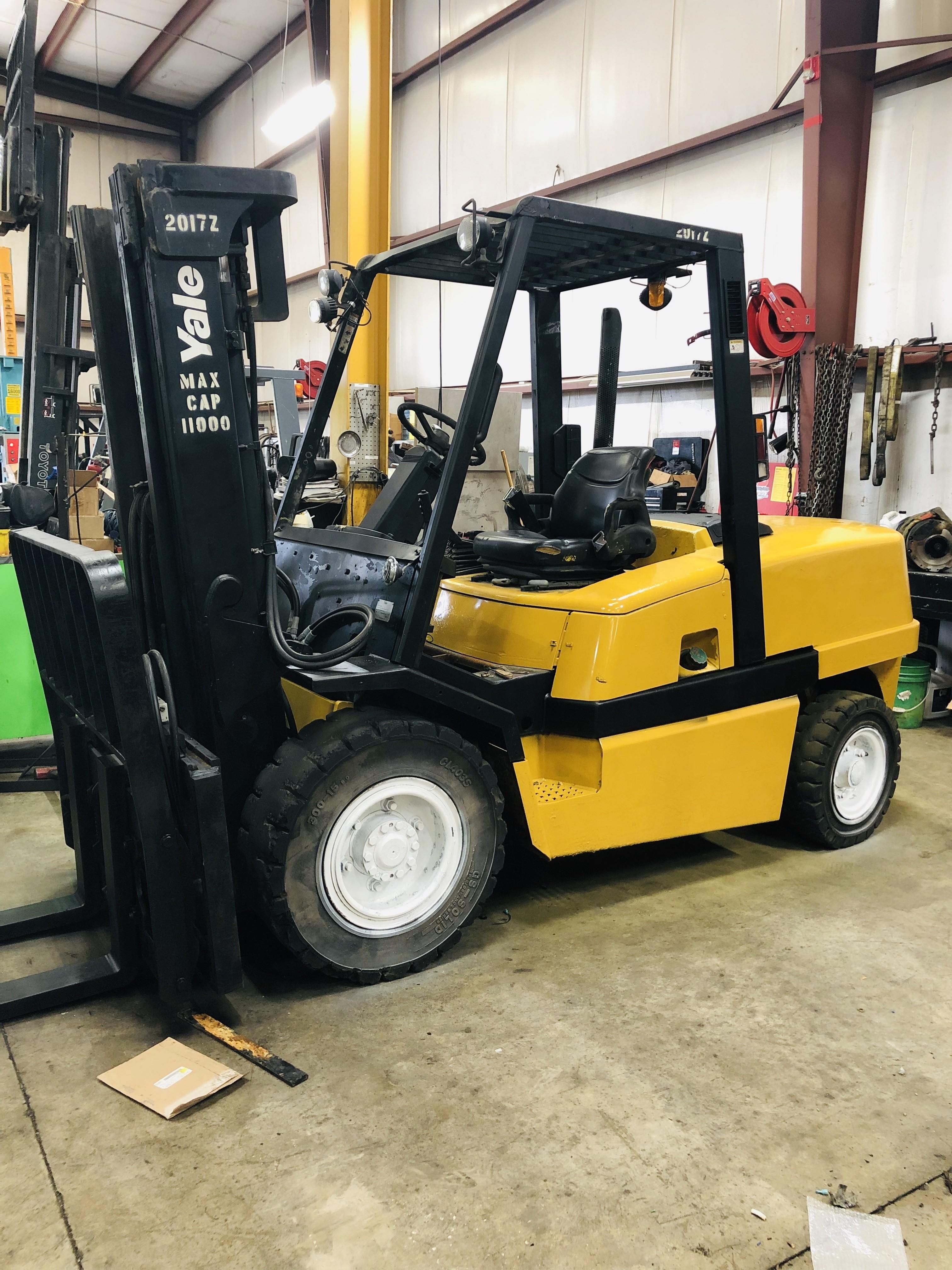 $24,995 2002 Yale 11k Diesel Pneumatic